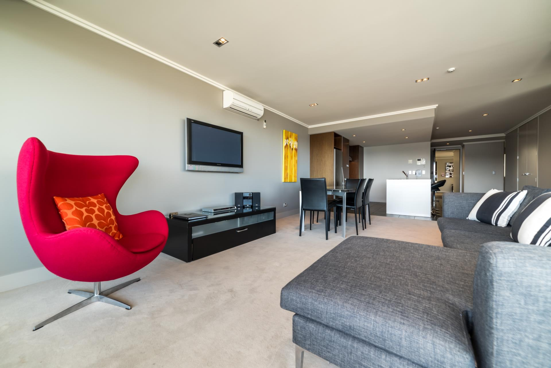 Apartment's modern styling and facilities